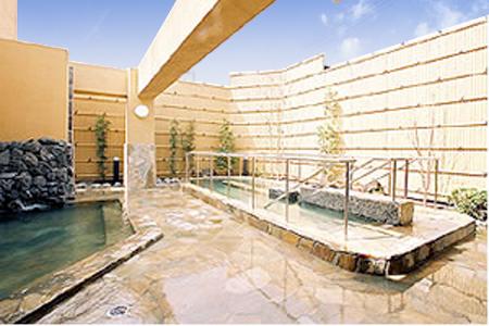 天然石や大理石を使った温泉